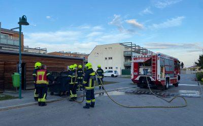 Müllbehälterbrand in Pfaffstätten
